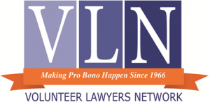 logo for Volunteer Lawyers Network