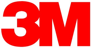 red font: large bold 3 to the left of large bold M logo