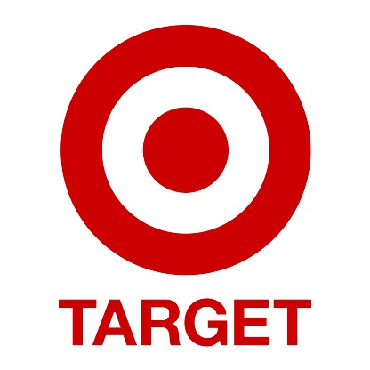 "red ring around red bullseye with ""target"" written in red underneath"