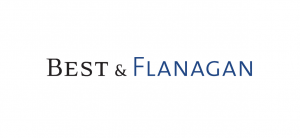 "black and blue text reading ""BEST & FLANAGAN"" logo"